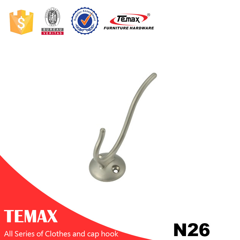 N26 Temax high end chrome color  Zinc alloy clothes hook