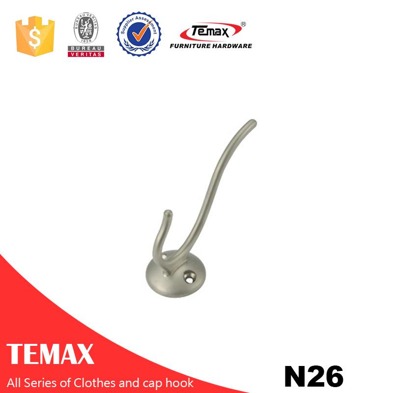N26 Temax High-End-Chromfarbe Zinklegierung Kleiderhaken