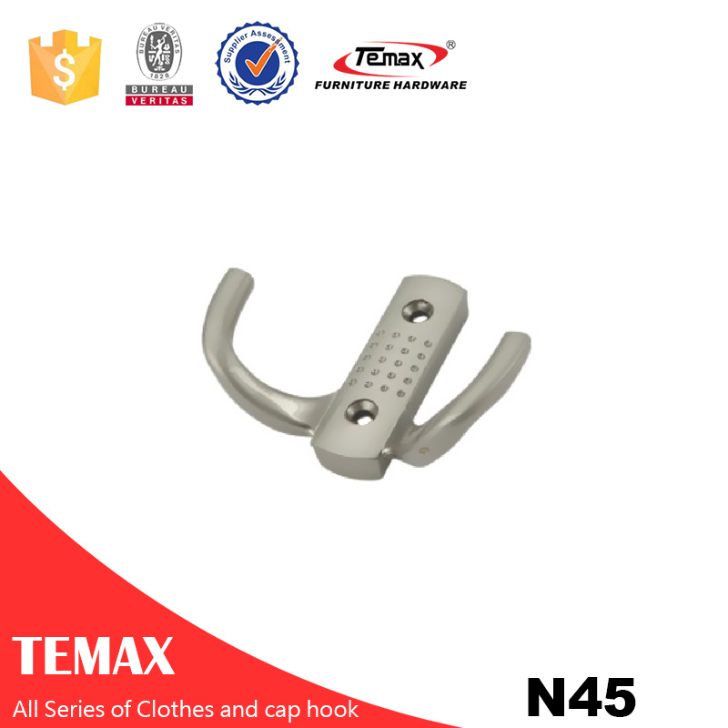 N45 Temax popular chrome garderobe color clothes hook
