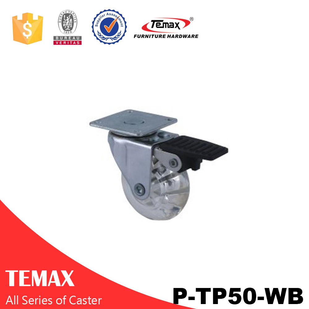 P-TP50-WB عجلة الأثاث فرامل العجلات الخروع
