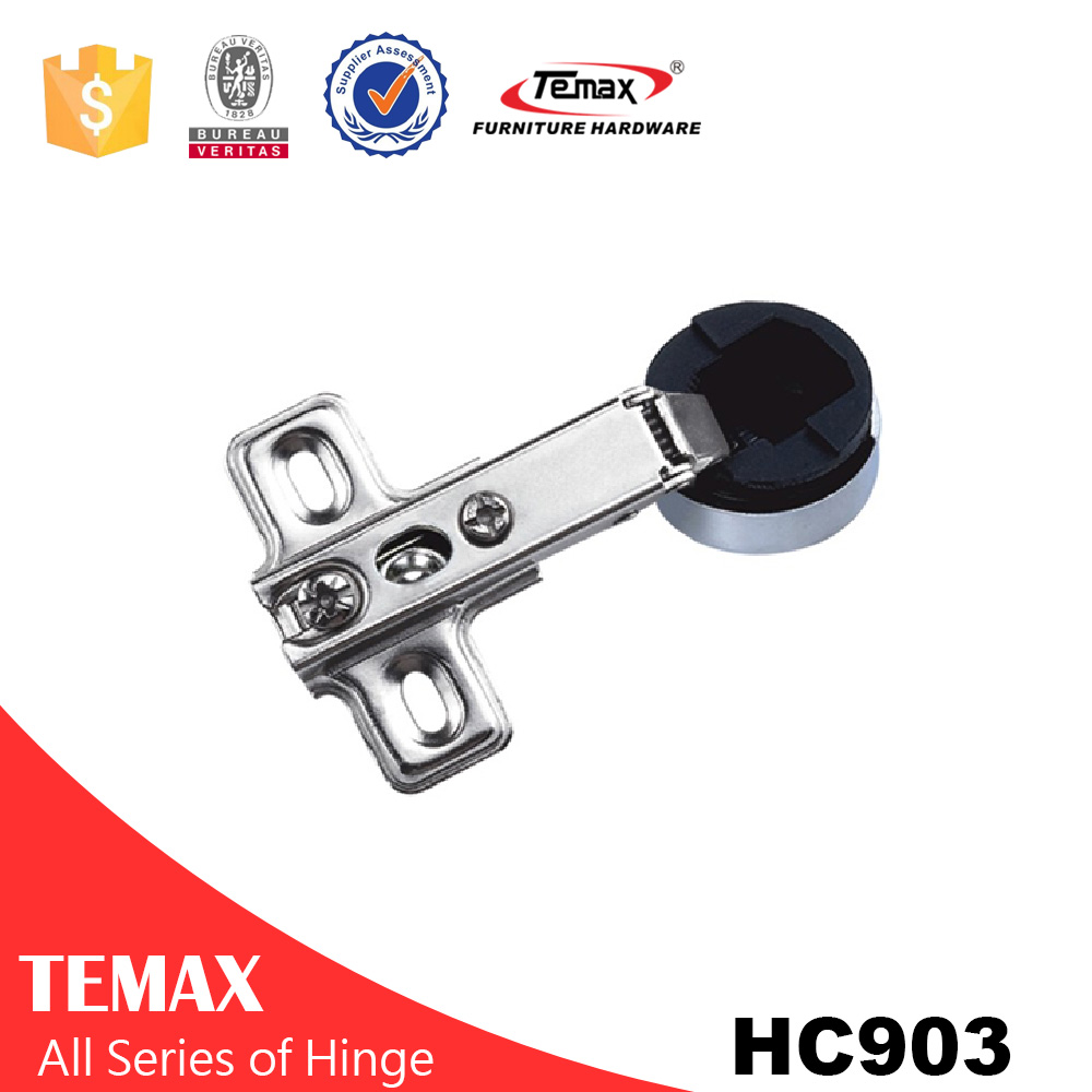 Plastic hinge for shower door