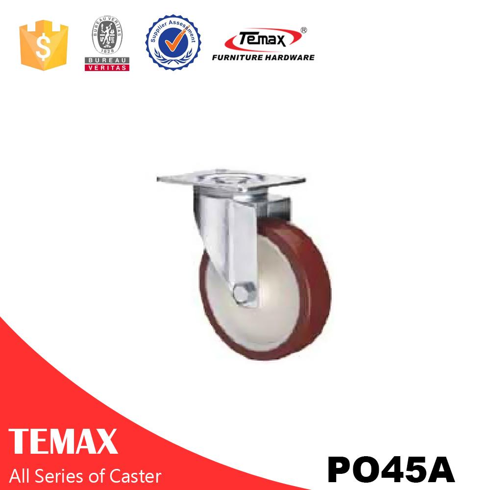 PO45A Plug in Nylon Furniture Caster Wheel