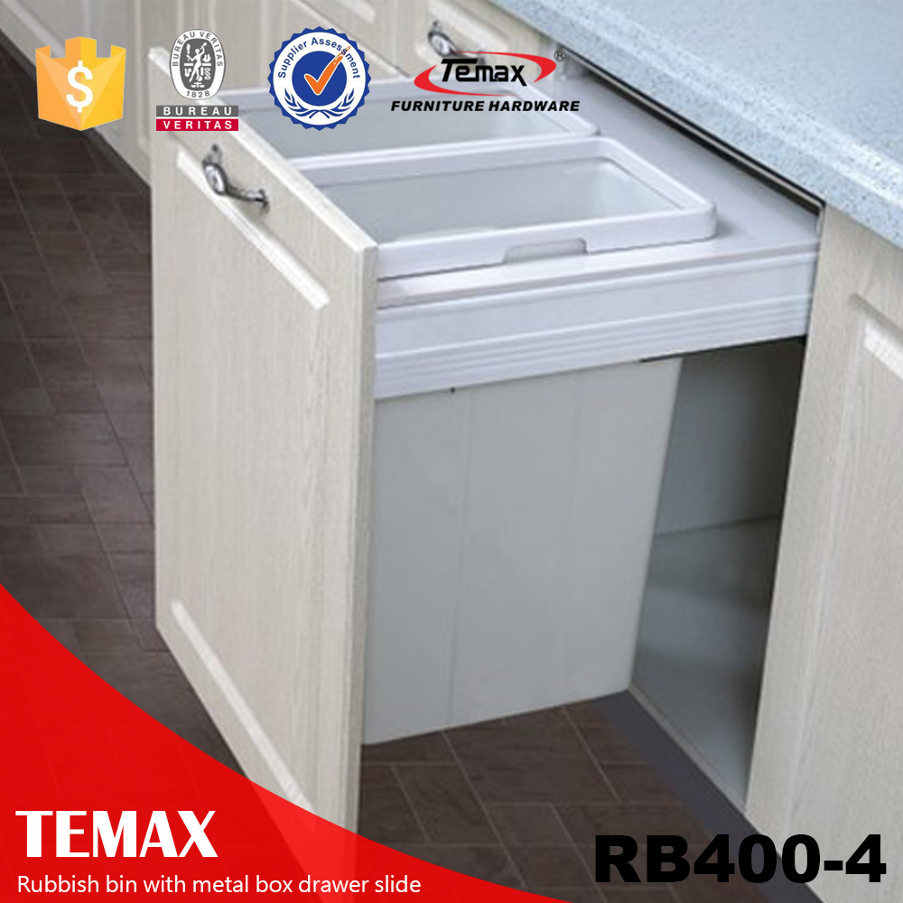 Popular folding trash bin with metal box drawer slide