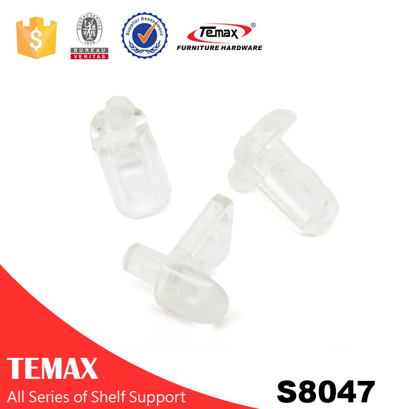 Suporte de prateleira de plástico transparente S8047