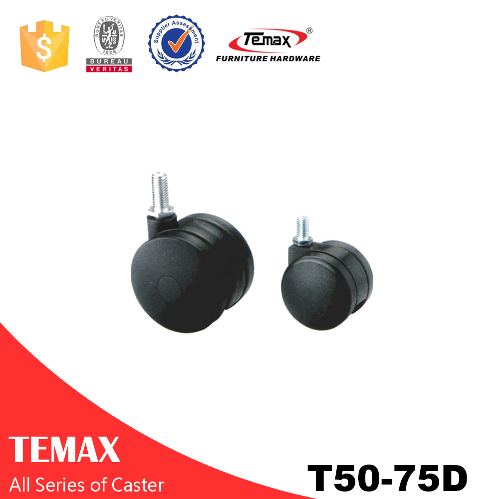 T50-75D small plastic caster with swivel plate