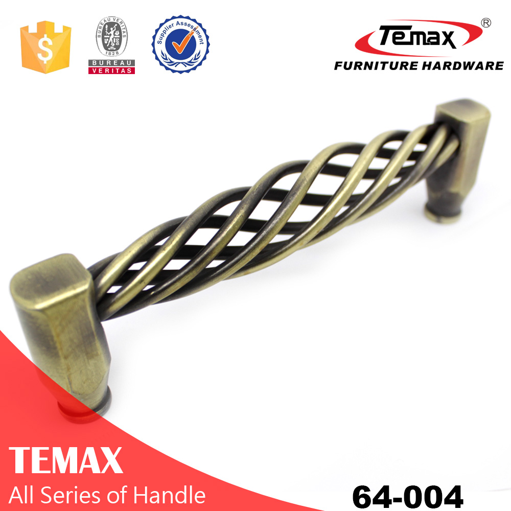 Shanghai Temax steel brass color U shaped furniture cabinet pull handle