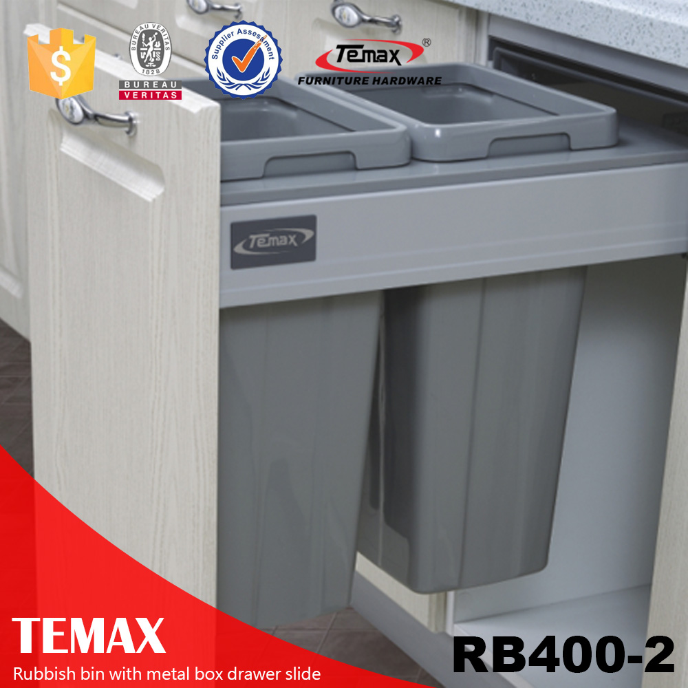 shanghai trash bin with metal box drawer slide