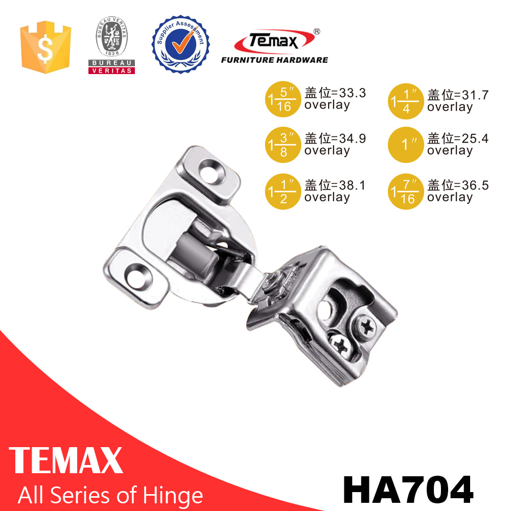 soft closing short arm hinge for frame cabinet door