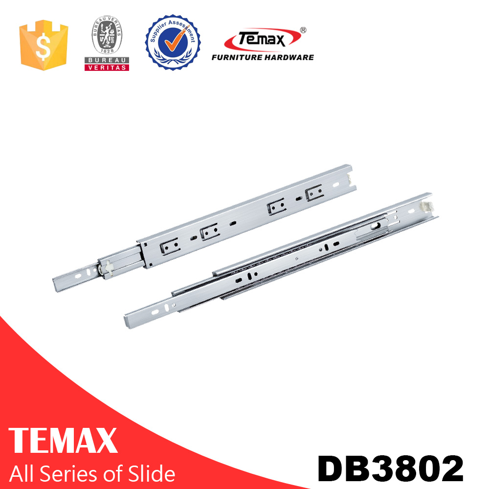 Stainless steel 3 fold ball bearing slide anti-rust ball bearing stainless steel slide for kitchen cabinet