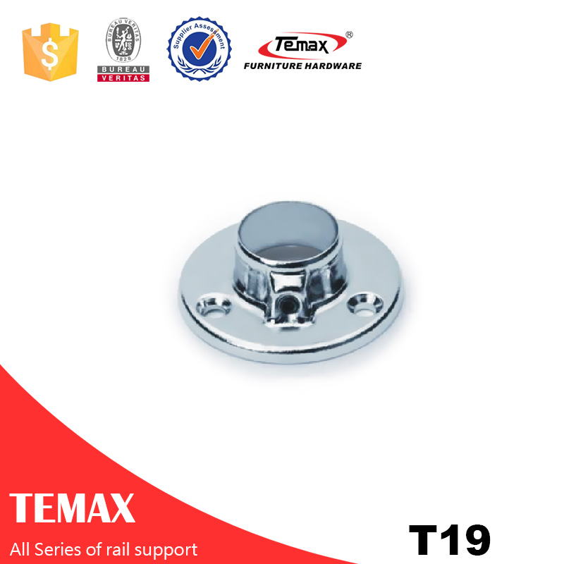 T19 Dia19mm فولاد مبلمان کمد پشتیبانی ریلی برای لوازم اتاق خواب