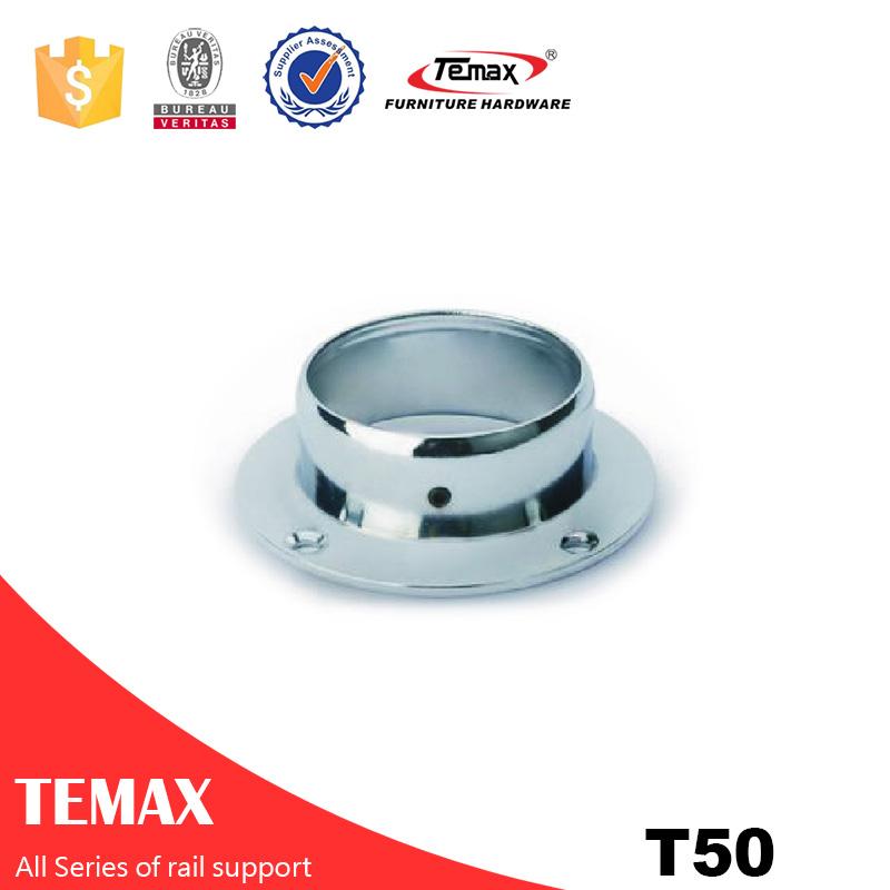 T50  Dia 50mm  steel  chrome durableWardrobe Clothes Rail holder for bedroom fittings