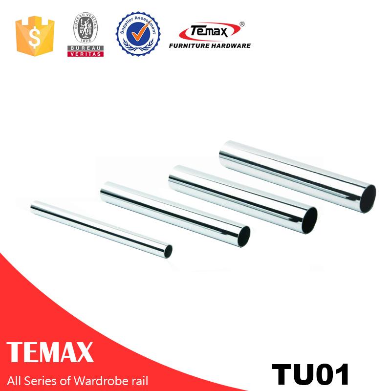 TU01 شکل گرد اندازه های مختلف فولاد کروم کمد لباس راه آهن برای اتاق خواب اتصالات