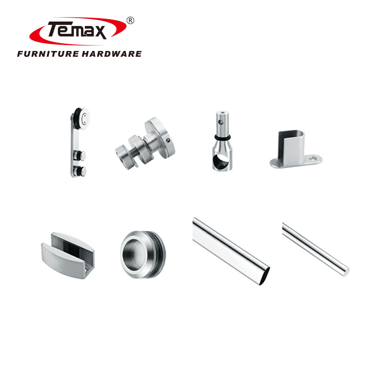Temax 2018 Big Rollers Round Sliding Glass Shower Door