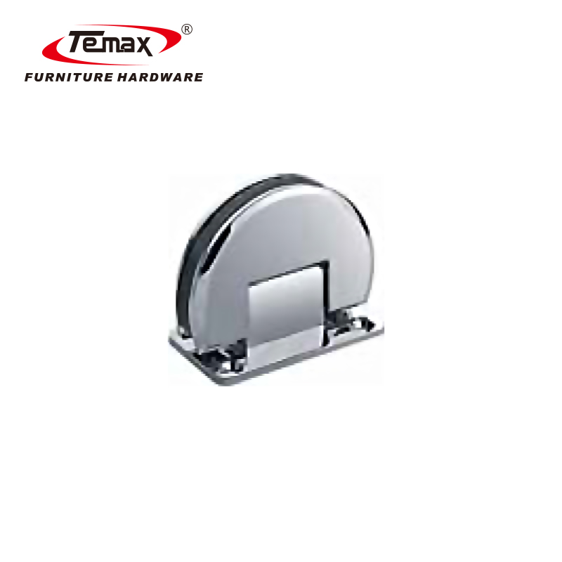 Temax 90 degree glass clamp hinge for glass door