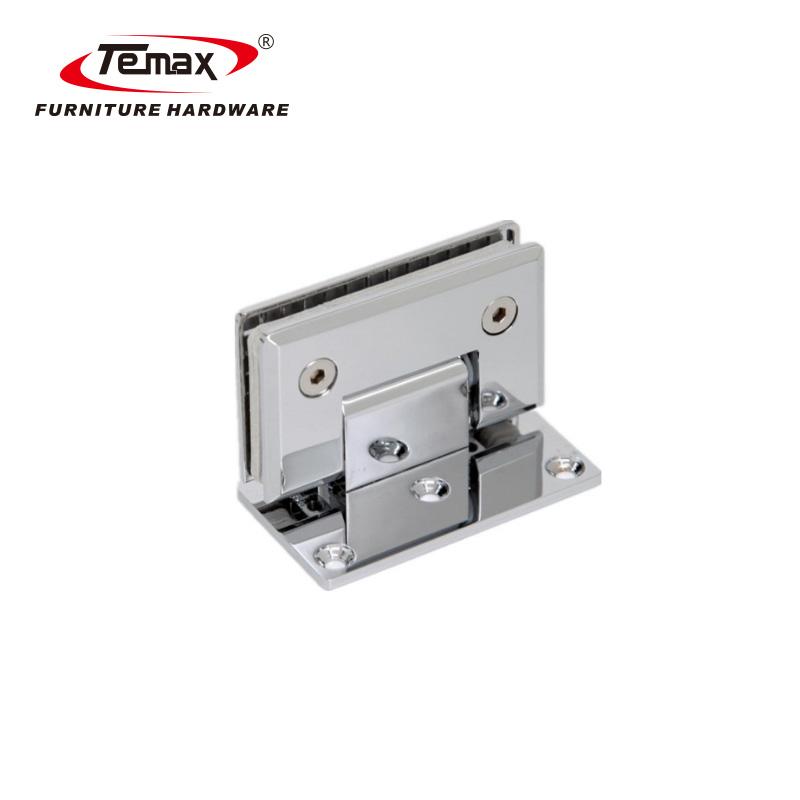 Temax 90 degree glass corner clamp glass shower door holder