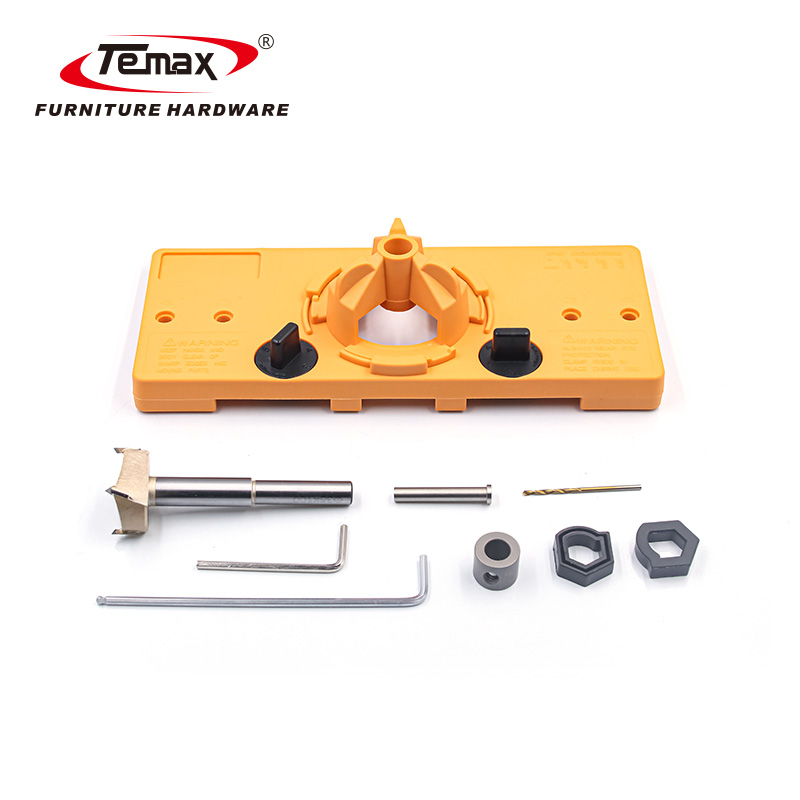 Temax Hinge Cup Guide Template drilling hole Opener for 35mm/26mm cup diameter gifts KP02