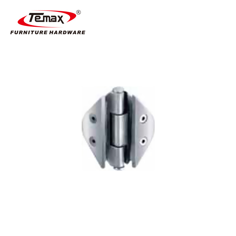 Temax zinc alloy glass door hinge, glass to wall fix clamp