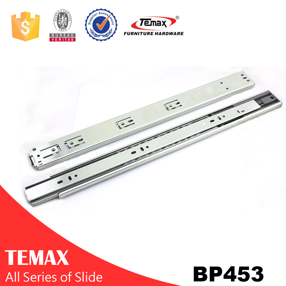 Temax 3-fold full extension telescopic channel drawer slide