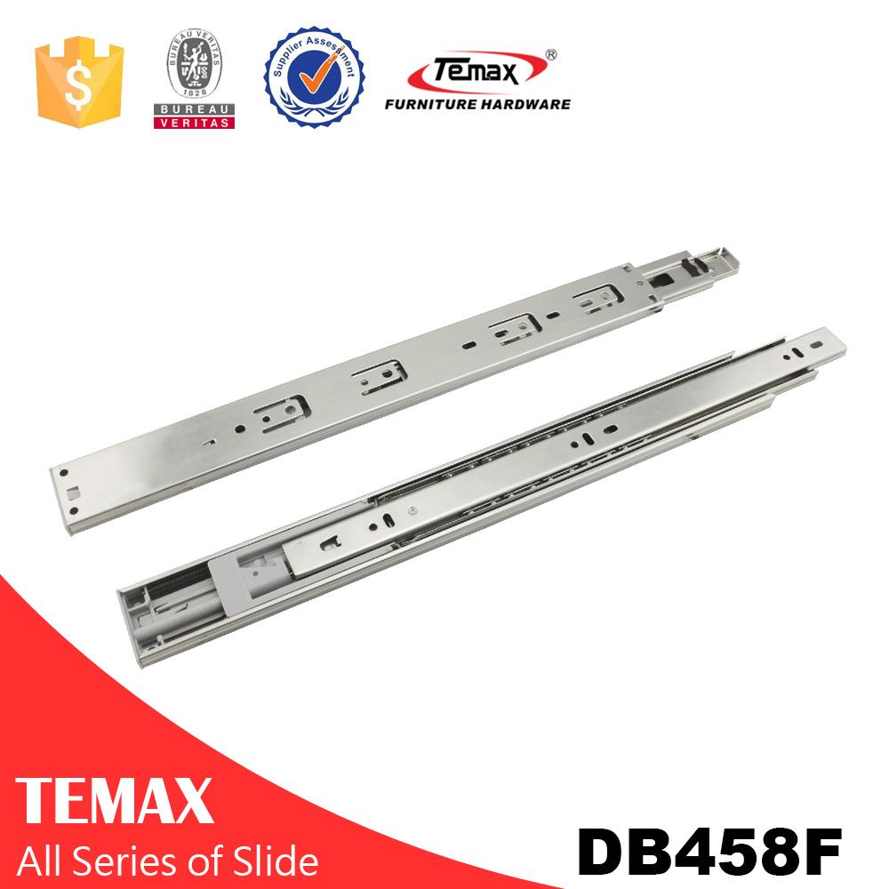 Temax 3-fold soft closing double spring ball bearing slide