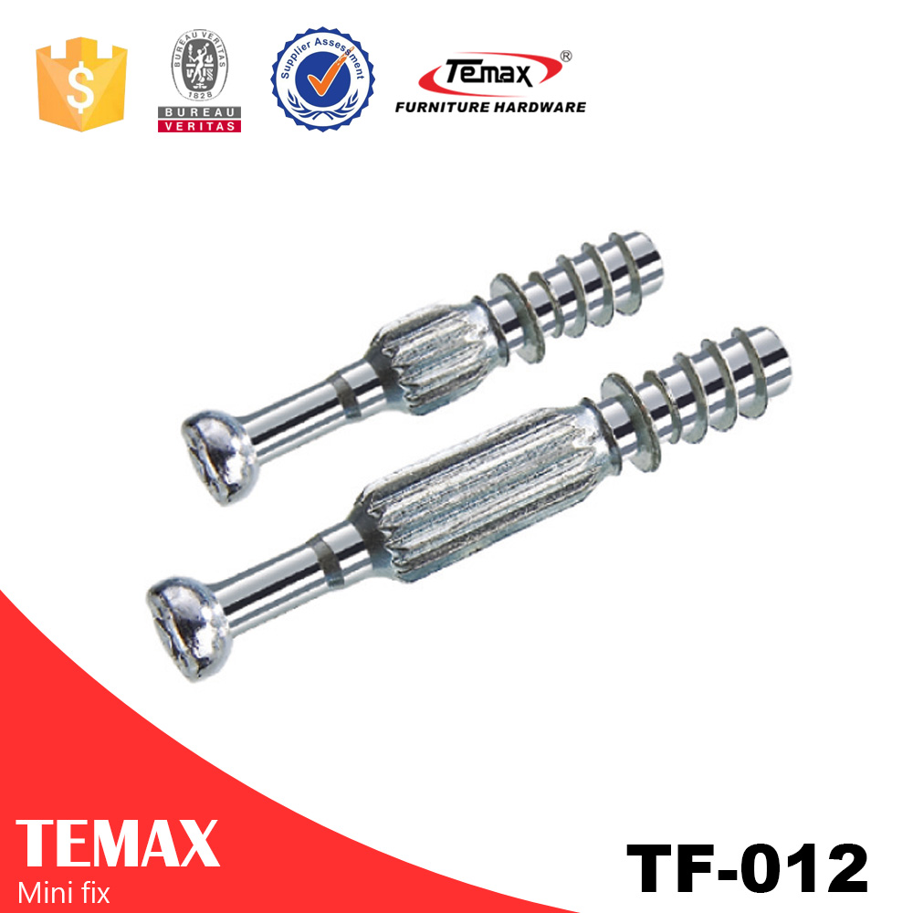 TF-012 Steel Zinc alloy Cabinet Dowel Screw