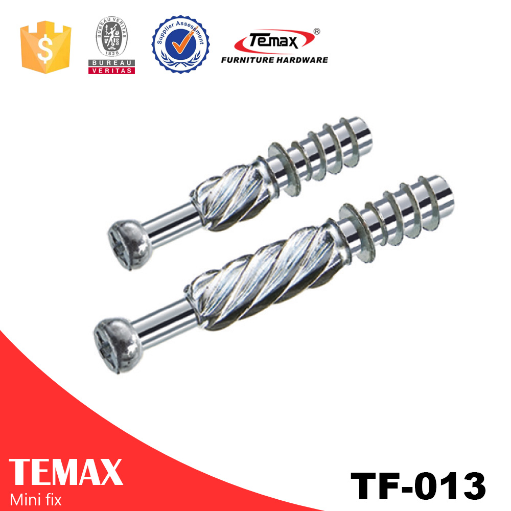 TF-013 Steel Zinc alloy Cabinet Furniture Nuts And Bolts