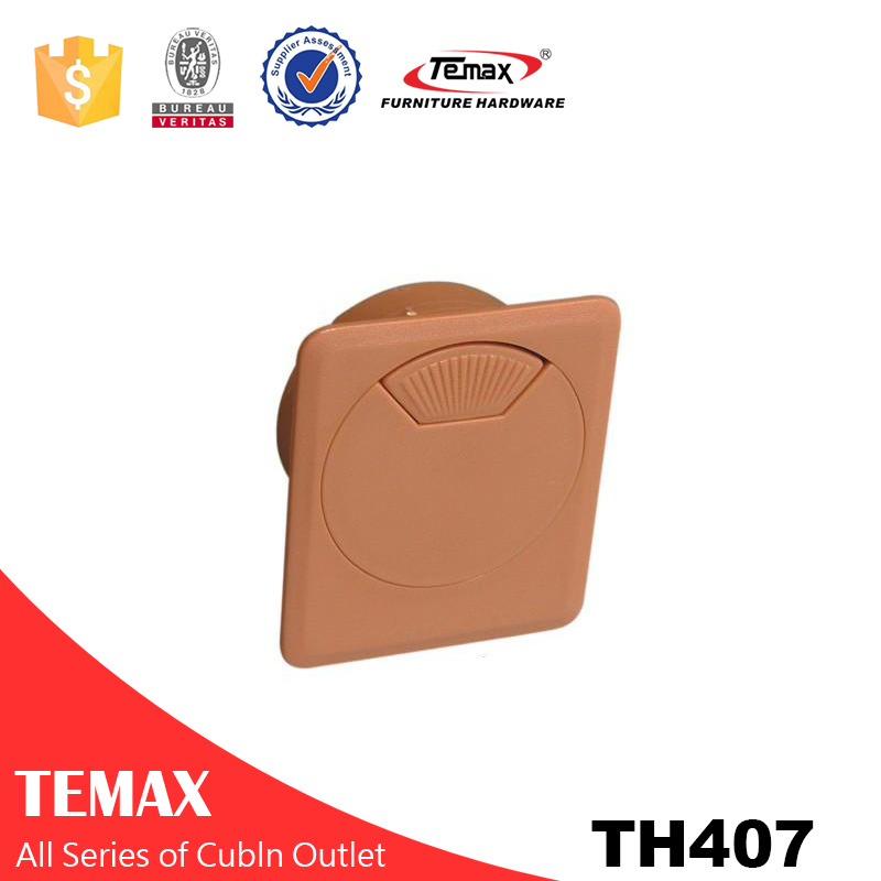 TH407 high quality round cable connection box cable outlet for office desk