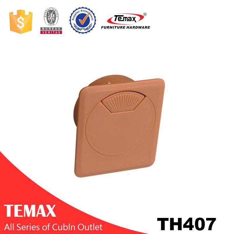 TH407 جودة عالية كابل جولة مربع اتصال منفذ كابل لمكتب مكتب