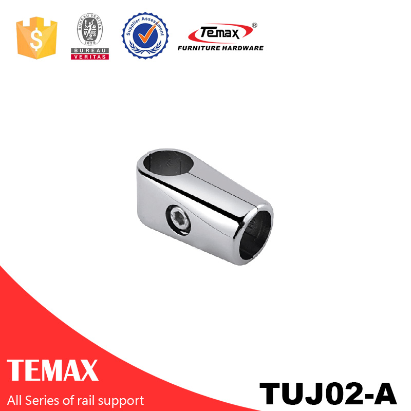 TUJ02-A Dia 19mm Stahl Chrom Unterstützung Schrank Schienenhalter