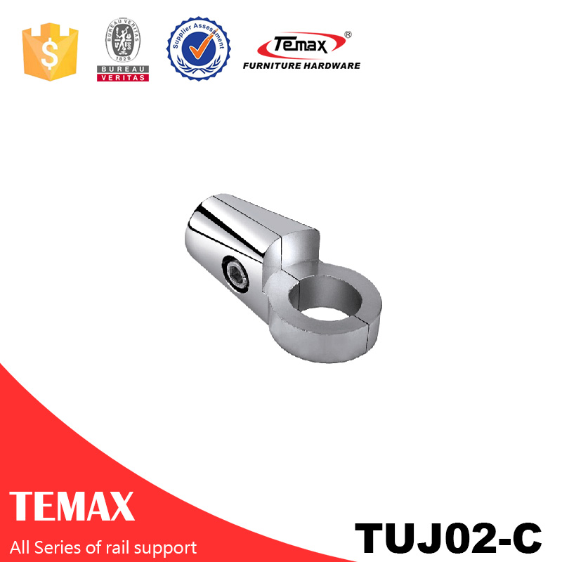 TUJ02-C  Dia 25mm Aluminium alloy  chrome wardrobe Support  holder