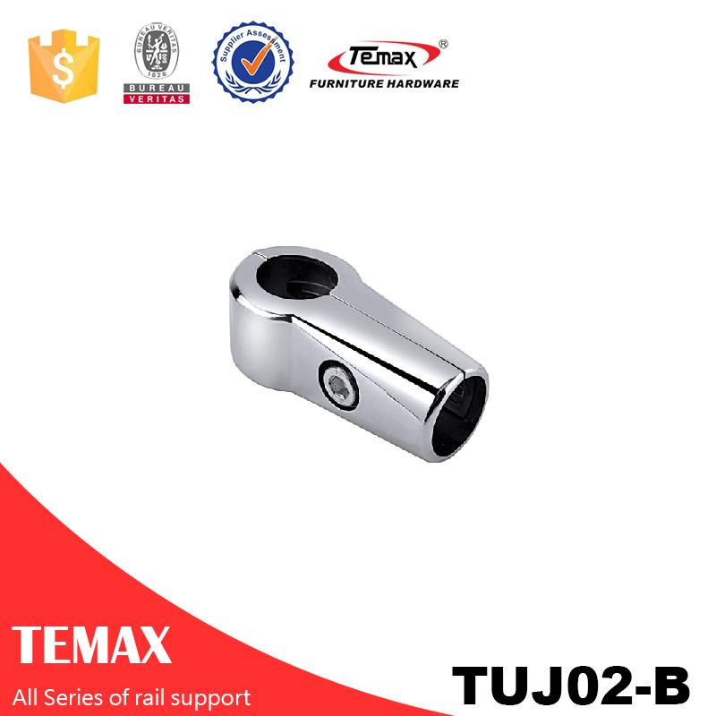 TUJ02-B Dia 25mm آلیاژ آلومینیوم کروم پشتیبانی از گیره کابینه رول