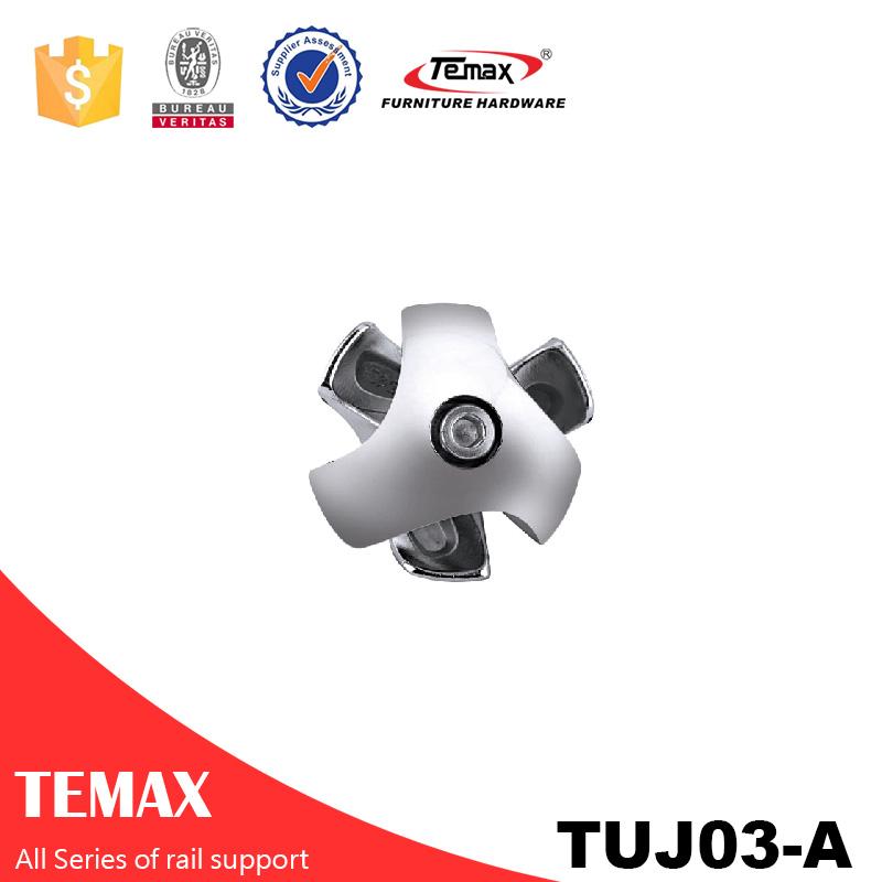 TUJ03-A شکل 25mm کروم آلیاژ آلومینیوم کمد کروم کمربند پشتیبانی
