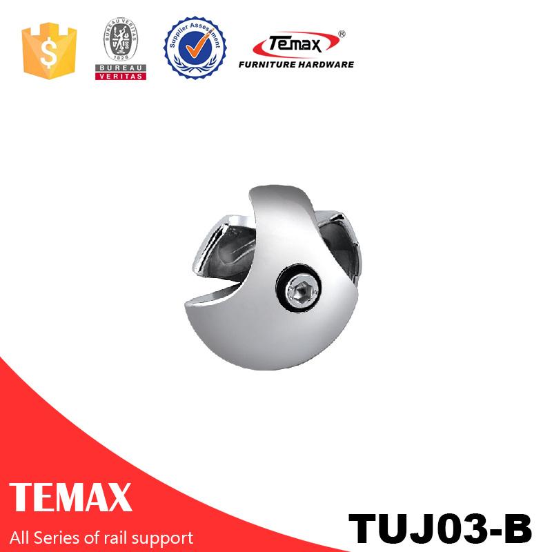TUJ03-B ضياء شكل سبائك الألومنيوم 25MM مجال السكك الحديدية الكروم خزانة دعم