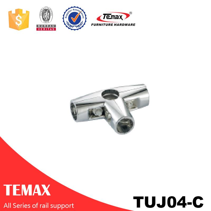 TUJ04-C Dia 25mm hochwertige Garderobe Kleidung Rail Unterstützung Halter