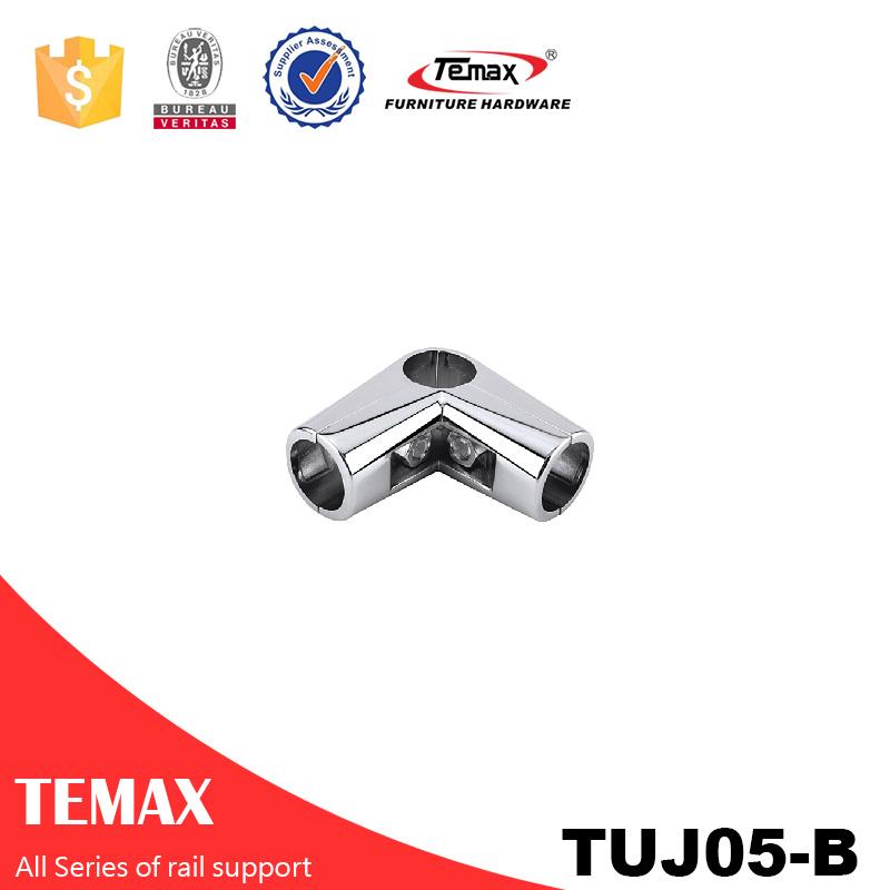 TUJ05 -A با کیفیت بالا پشتیبانی کمد لباس کروم راه آهن قطر 25mm در V شکل