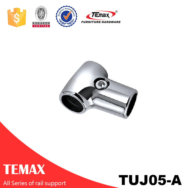 TUJ05-A Dia 25mm V شکل کم کروم کمد لباس پشتیبانی ریل