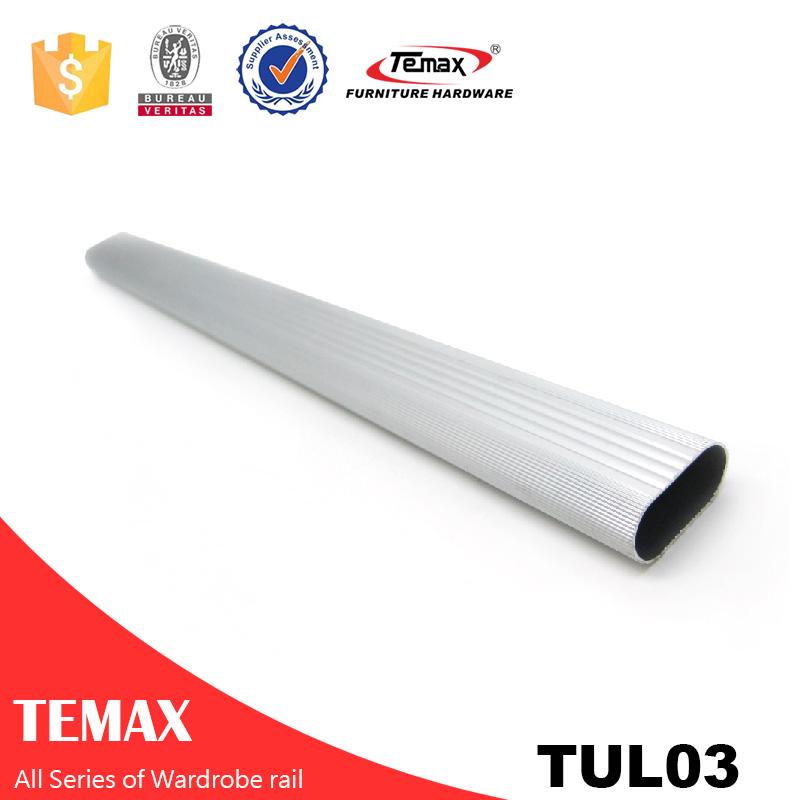 TUL-03 D15.2 * L29mm شکل V پشتیبانی راه آهن کمد لباس کروم لهستانی