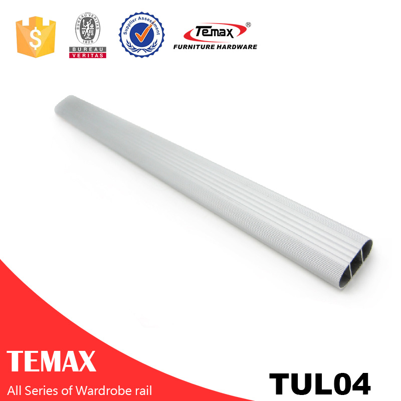 TUL-04 D15 * L30mm شکل V کروم لهستانی پشتیبانی کمد ریلی
