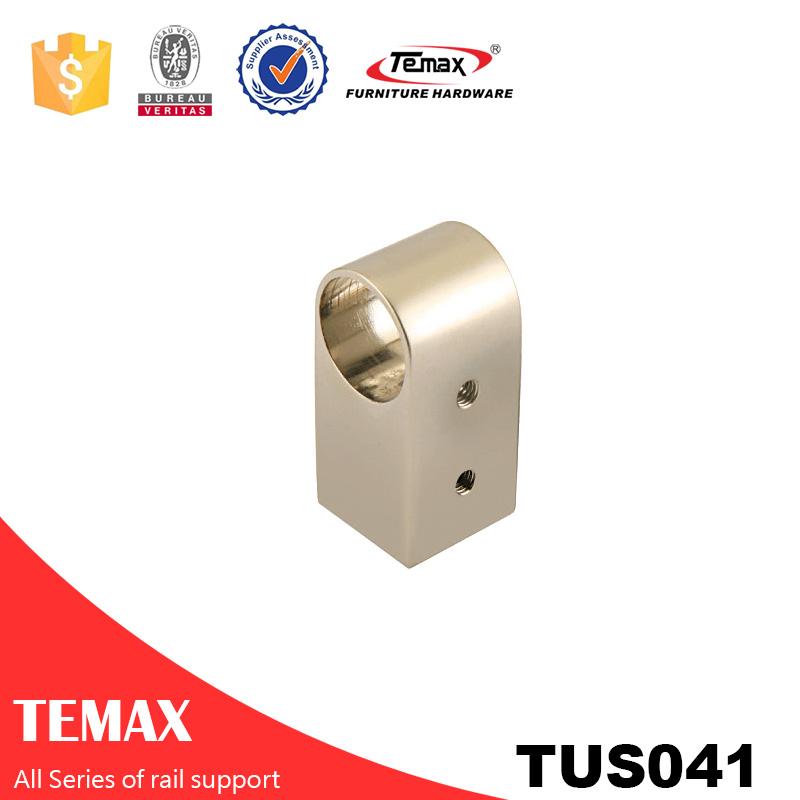 TUS041 Dia 25 millimetri forma rotonda lucido per cromo guardaroba titolare supporto della guida