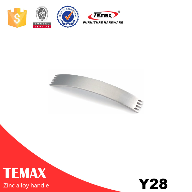 Y28 Popular new mill finish zinc alloy handle