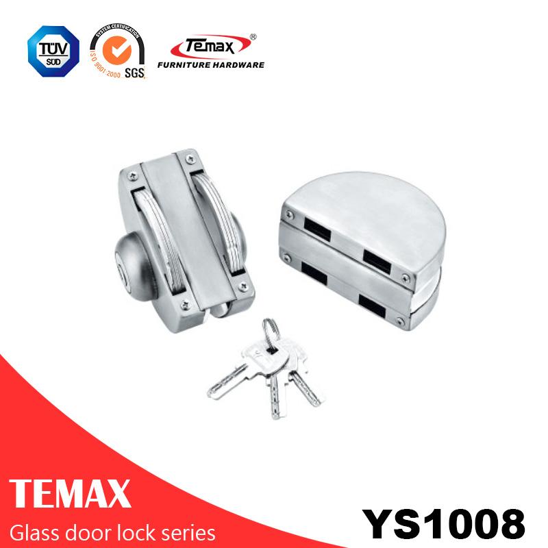 YS1008 الصين مصنع العرض مباشرة قفل الباب الزجاجي
