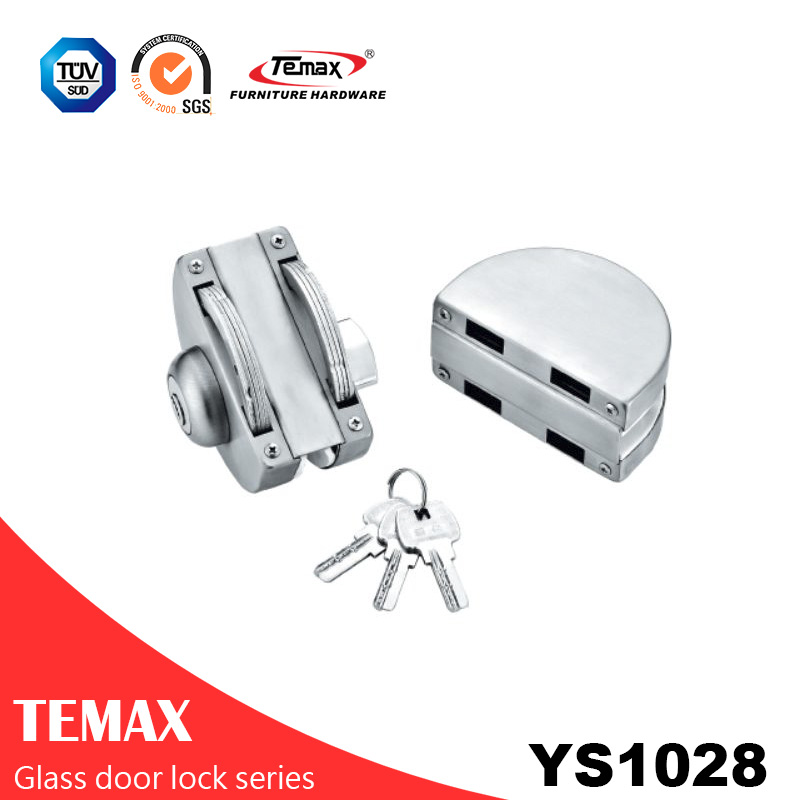 YS1028 good quality Round type locks glass door lock