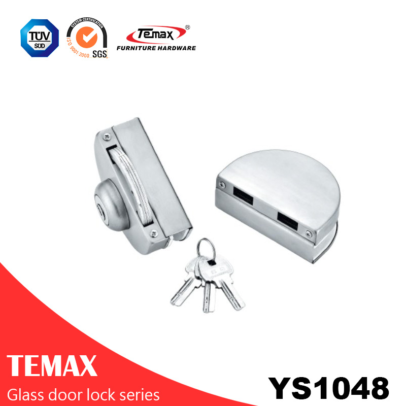YS1048 good quality stainless steel safe glass door lock