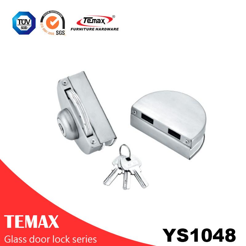 YS1048 نوعية جيدة الفولاذ المقاوم للصدأ قفل الباب الزجاج الآمن