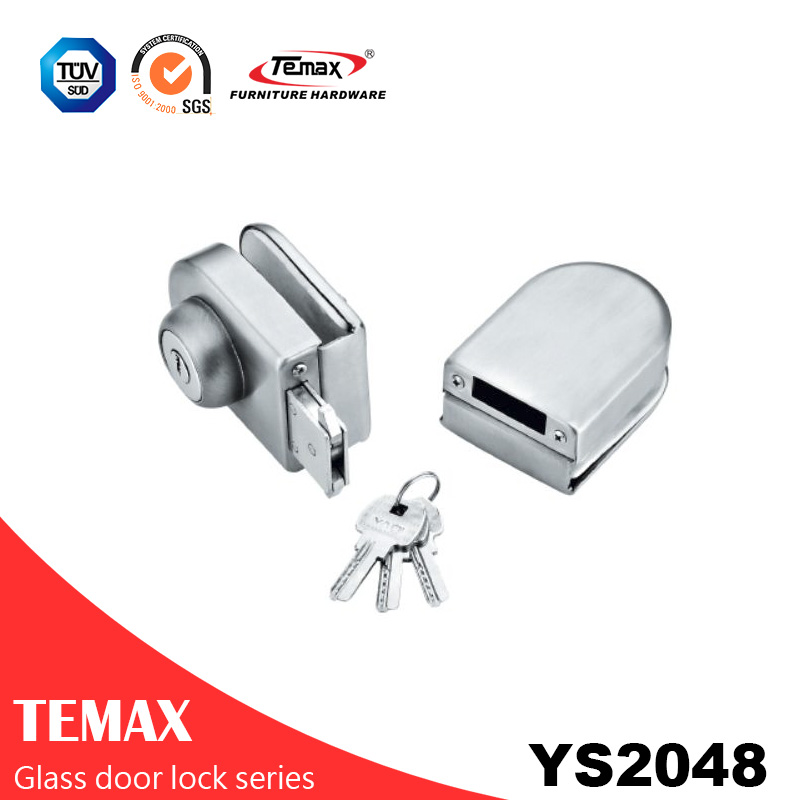 YS2048  high quality square type locks glass door lock