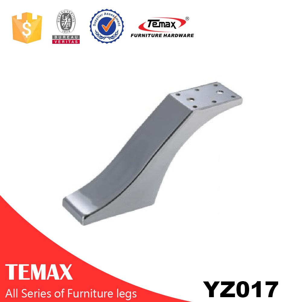 YZ017  chrome finish wholesale metal furniture leg