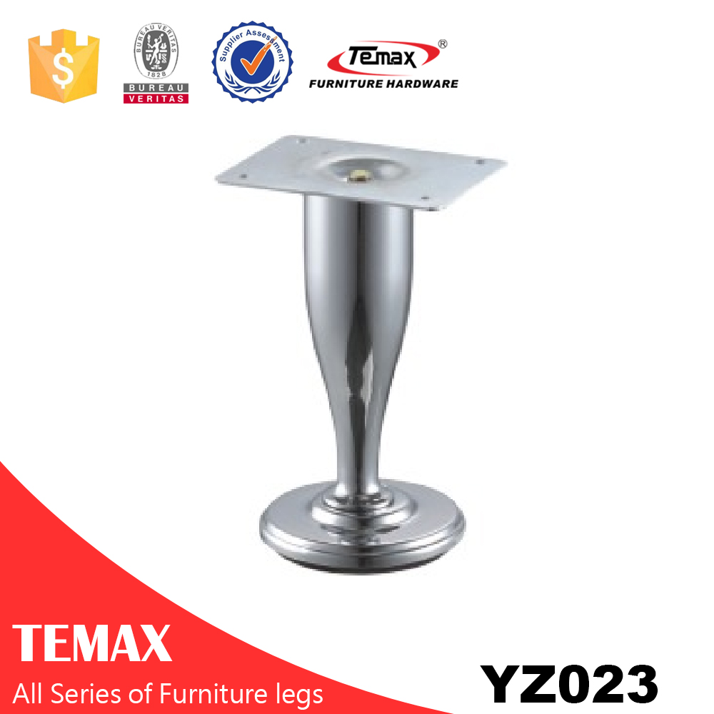 YZ023 Steel chrome finish updated furniture leg feet