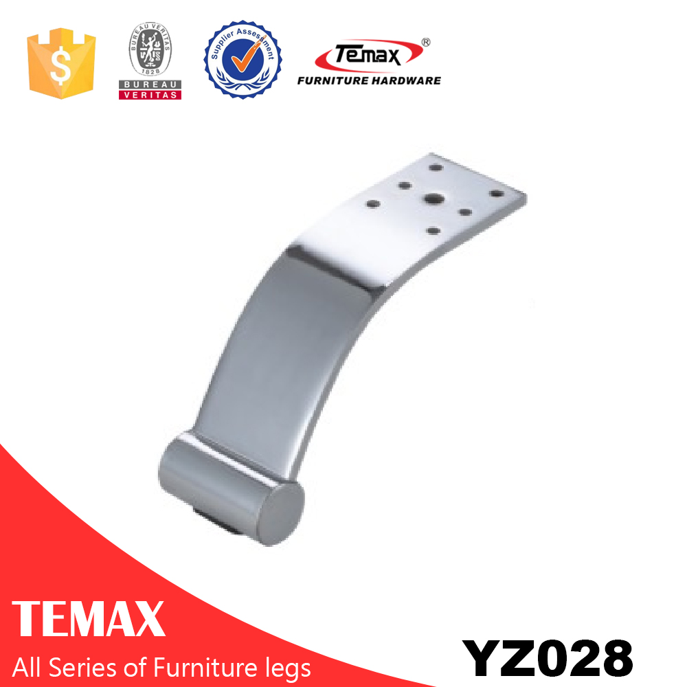 YZ028 Temax hot chrome finish metal furniture table legs