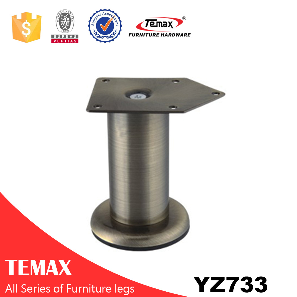 YZ733 Round shape hot sale aluminium furniture legs