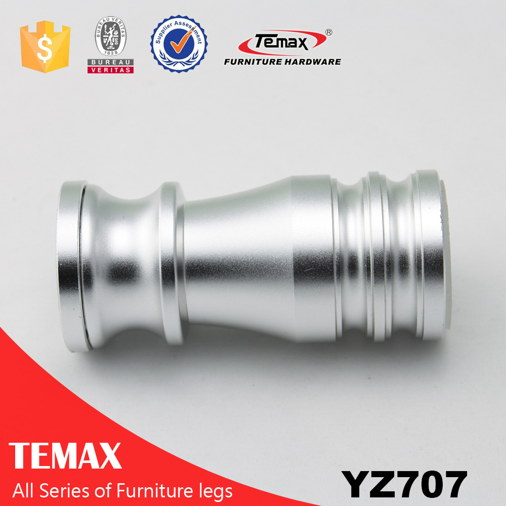 YZ707 Aluminium Oxy finish wholesale furniture sofa leg