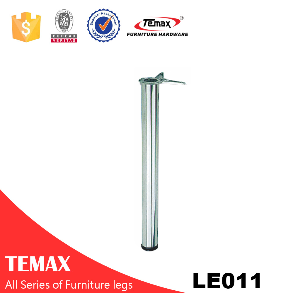 LE011 Dia 60mm round shape  good quality silver gray furniture table leg